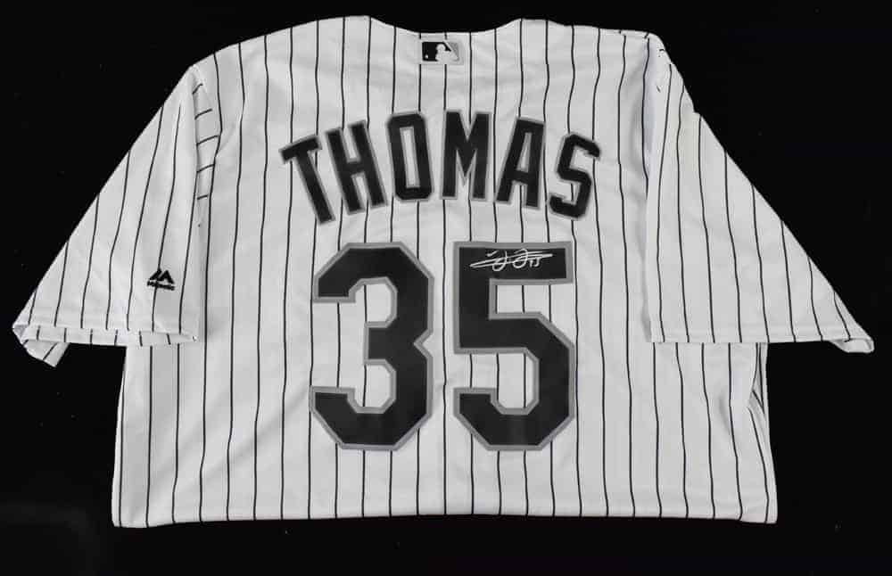 size 40 9c99a aeee3 Frank Thomas Signed Jersey