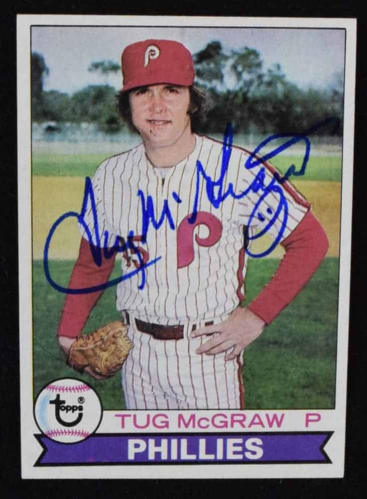 Tug Mcgraw Signed Baseball Card
