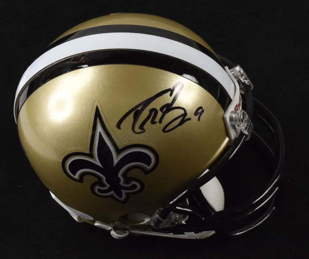 1ade674f0 Drew Brees Signed New Orleans Saints Mini Helmet