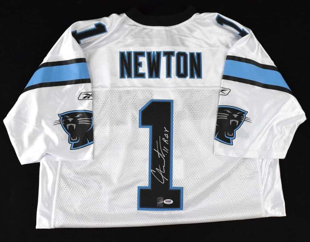 new product 922fd b9f99 Cam Newton Signed Carolina Panthers Jersey