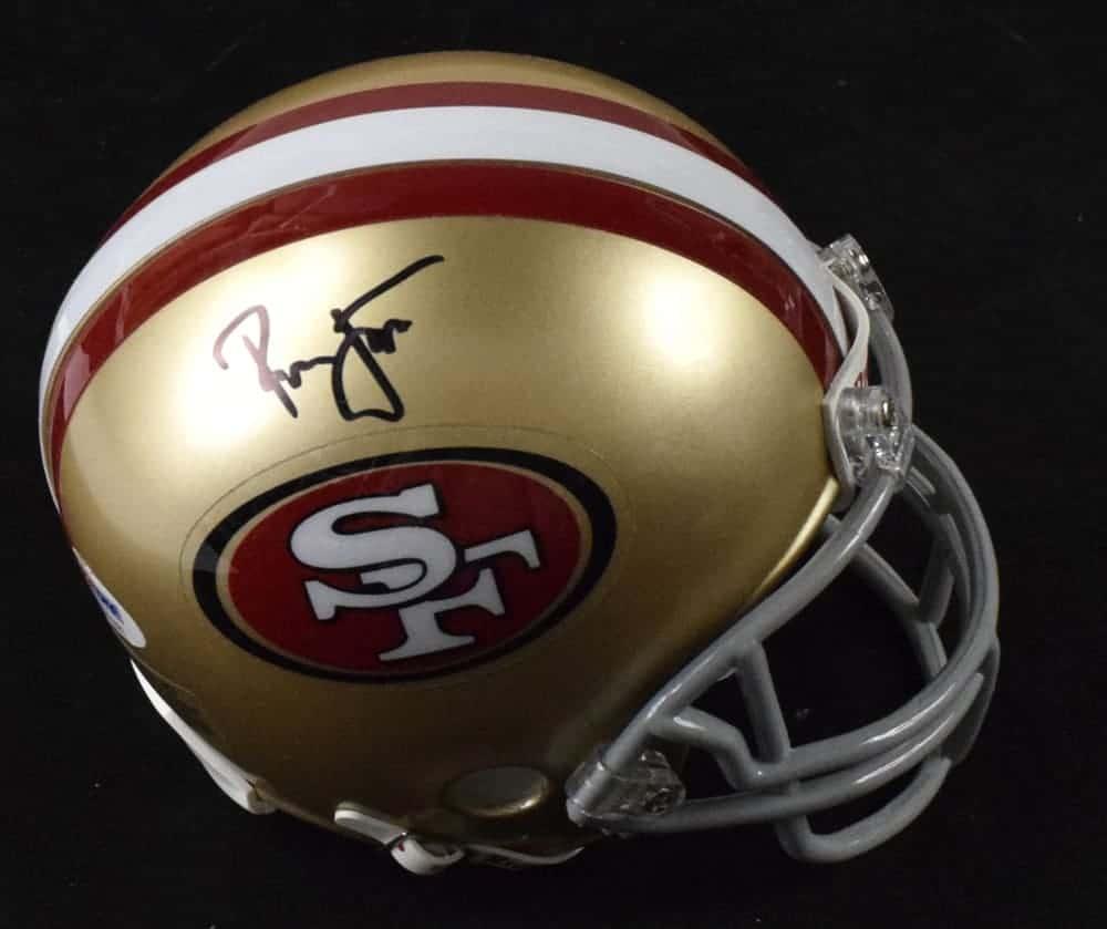 newest f48a6 0696e Ronnie Lott Signed San Francisco 49ers Mini Helmet