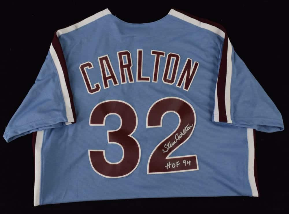 "Steve Carlton Signed Majestic Jersey Inscribed ""HOF 94"" 82074003d0b"